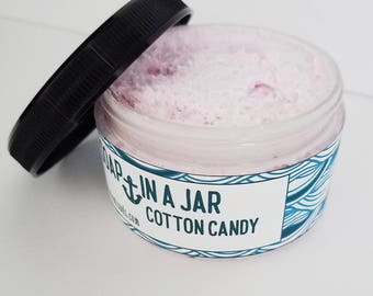 Cotton Candy (4,25 oz. jar) Soap In A Jar (Fluffy Whipp) (Vegan)