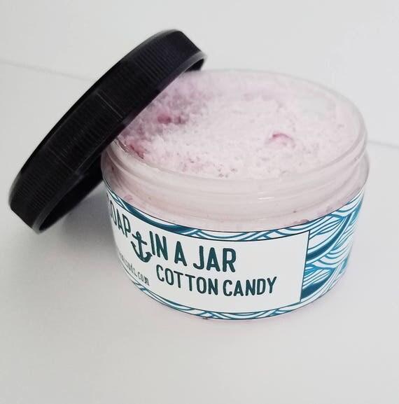 Cotton Candy (4,25 oz. jar) Soap In A Jar (Fluffy Whipp) (Vegan)