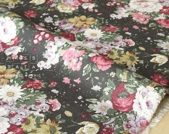 Japanese Fabric Yuwa Antique Flowers canvas - fat quarter