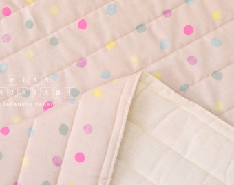 Japanese Fabric Nani Iro colorful Pocho quilted double gauze - sourire - 50cm