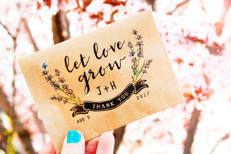 Plantable wedding favors - Details Seed Packet Wedding Favors