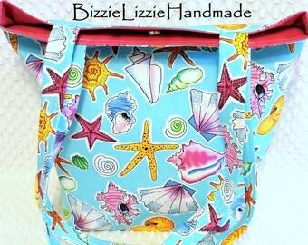 Large Seashell Purse, Beach Satchel Bag Handbag, Handmade Beach Purse