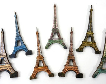Laser Cut Wooden Craft Pieces - 7 Eiffel Towers