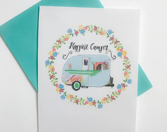 Greeting Card - Happiest Camper