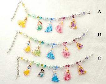 Princess Bracelet with Swarovski Crystal Beads for Girl