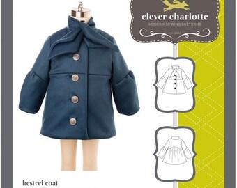 Clever Charlotte PATTERN - Kestrel Coat - Sizes 2T-8