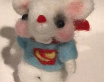 Super man Rat  Ooak art doll