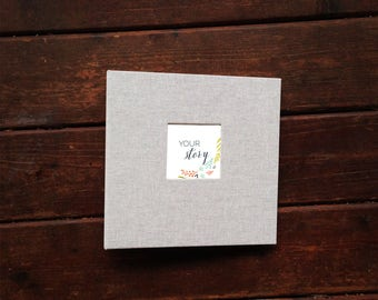 Girl Baby Book, Beautiful Natural Cover with Flower Pages (9.25 x 9.5)