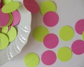 Custom Listing for Tricia - Paper Circle Garland - Bright Pink and Lime Green - Birthday Party Decorations - Baby Shower Decorations
