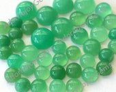 Gemstone Cabochon Chrysoprase 5mm Round FOR TWO