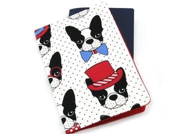 Polka Dot Boston Terrier Dog Passport Holder, Passport Cover, Passport Wallet, Passport Case, Travel Gift