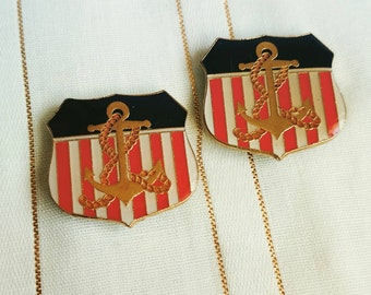 Vintage Navy magnets, set of two
