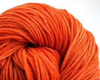 Windham 100% US Merino Hand Painted worsted weight 220 yds 201m ~4oz 113g Orange Crush