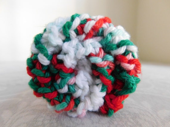 Holly Jolly Cotton Dishcloth