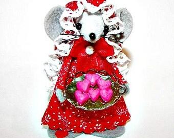 Valentine Baker Mouse Heart Cookie Baker Valentine Gift Red