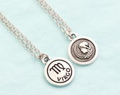Silver Virgo Necklace - Personalized Zodiac Necklace - Virgo Zodiac Jewelry - Birthday Gift -  Astrology Pendant - Gift For Daughter