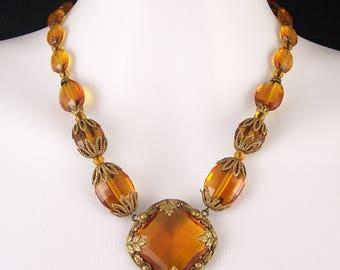 Antique Vintage Crystal Rhinestone Necklace