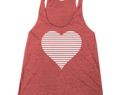 Women's Valentine's Day Retro Heart Racerback Tank Top