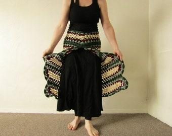 Long Layered Crocheted Skirt
