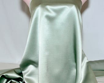 """Duchess satin Fabric 60"""" Sage Green ... bridal, formal, pageant, suits , home decor..wedding...crafts"""