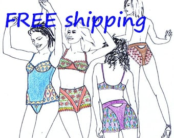 FREE Ship Pattern MIX4 for Bra Brief BRA-SHIRT by Merckwaerdigh