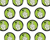"You're #1 Middle Finger 1"" Pinback Button - Pin Back Button, Lowbrow Art, Punk, Fuck You Award"