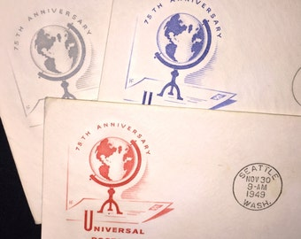 1950's First Day Issue Universal Postal Union Stamps