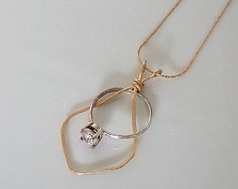 SALE - Wedding ring holder necklace, ring keeper necklace, gold filled necklace