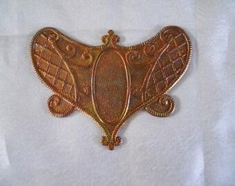 Vintage  Brass Victorian Stamping