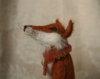 Some may say I'm a dreamer....needle felted fox in boots