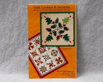 Quilt Block Pattern - Oak Leaves & Acorns by Piece O' Cake Designs - Appliqué Pattern