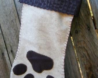 Paw Doggy Christmas Stocking