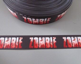 Zombie Horror Grosgrain Ribbon x 1 metre