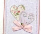 Valentine - Greeting Card - Elegant Card - Valentine's Day Card -   Fancy Card - Embellished Valentine Card