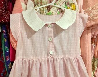 Pink Gingham Dress 5T
