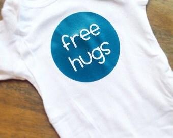 Free Hugs baby onesie bodysuit shirt