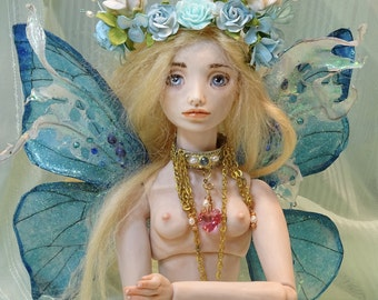 BJD fairy doll, fashion doll, polymer clay Sarah Pierzchala