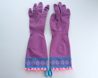 Designer Cleaning Gloves - Size Small
