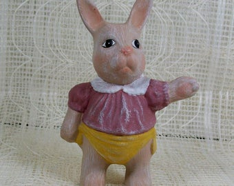 Handmade Ceramic Bunny Figurine / Ceramic Bunny Statue / Rabbit Decor / Easter Decoration / Easter Gift / Ceramic Rabbit