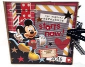 Disney Adventure Paper Bag Scrapbook - Disney Autograph Paper Bag Album