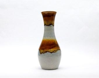 Vintage Ü-Keramik, Uebelacker, Übelacker Vase, West Germany ceramics, Pale blue Vase, German pottery, Mid Century art pottery