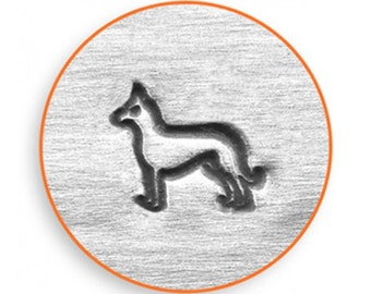 Impress Art 6mm German Shepherd Metal Stamp Design Stamp  Decorative Stamp