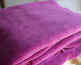Purple Minky Fabric - Uncut
