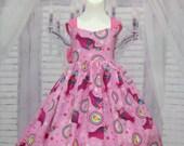 Pink Girl Dress, Trolls Inspired Pink Dress, Toddler Pink Dress, Girl Pink Dress, Summer Dress, Girl Birthday Dress, Hot Pink Polka Dots
