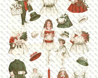 Vintage Christmas Paper Doll Betty Bonnet Shops Early Ladies Home Journal December 1917