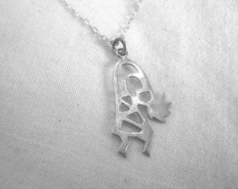Sterling silver Kokopelli necklace- only one