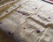 Spring Flowers Dupioni Silk // SAMPLE SALE