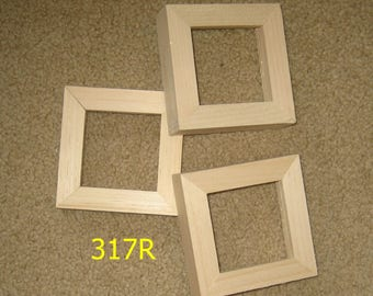 3 deep rabbet unfinished 3x3 frames for canvases