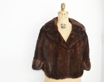 Mahogany mink cape-mink fur capelet-wedding mink cape-mink shawl mink fur wrap-mink stole bridal