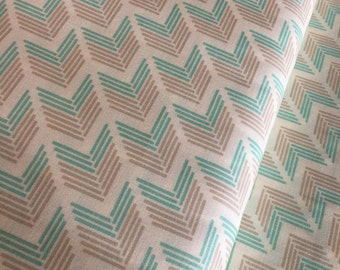 SALE fabric, Arrow fabric, Aqua fabric, Farmhouse Decor, Discout fabric, Cotton fabric by the yard- Choose your cut
